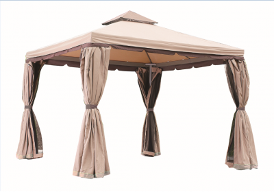 Gazebo ''PASSION'' per giardino in alluminio 3x3m ombrelloni impermeabile gazebi Ecrù