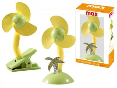 Ventilatore da tavolo con clip colorato