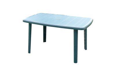 Tavolo ovale in plastica Cayman verde 85x137x72 cm