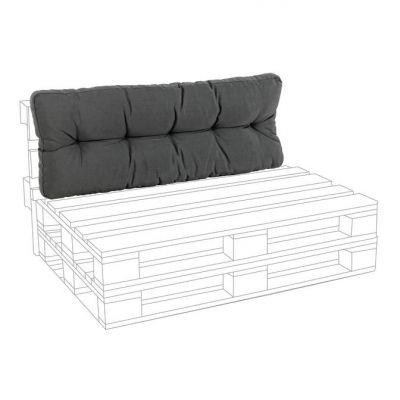 Cuscino SCHIENALE per pedane in legno Carbon divano in pallet con bancali arredamento design Bizzotto