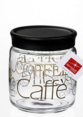 BARATTOLO GIARA 0,75 LITRI PER CAFFÈ BORMIOLI IN VETRO E PLASTICA