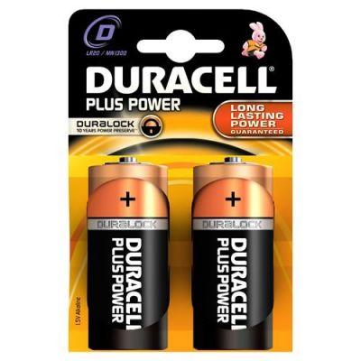 Duracell Plus MN1300-X2 - Batteria 2 x D Alcalina