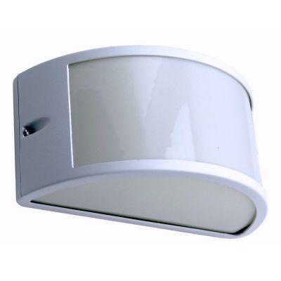 Applique enio da esterno mezzaluna alluminio  lampada da parete bianco