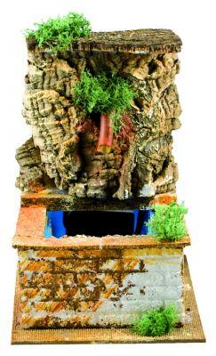 fontana con sughero accessori per presepe 15 cm