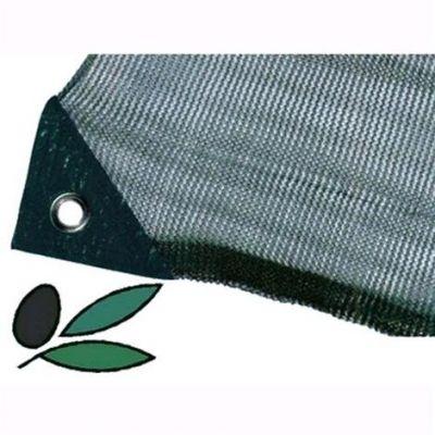 Telo Antispina Rete per raccolta Olive 4X8 mt - 90 gr/mq CON Apertura Colore Verde con Angoli Rinforzati
