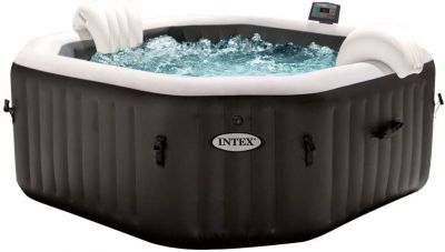 Intex 28458 piscina idromassaggio spa gonfiabile 201x71 jet & bubble deluxe