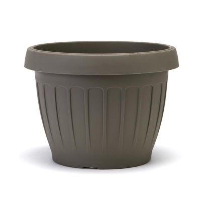 """Bama vaso da giardino tondo """"TERRA"""" in plastica 25 cm cappuccino"""
