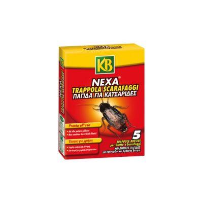 Trappole adesive insetticida per SCARAFAGGI e BLATTE pronte all'uso 5pz Nexa