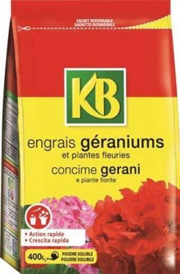 Concime granulare idrosolubile per Gerani fioritura prolungata KB 800gr