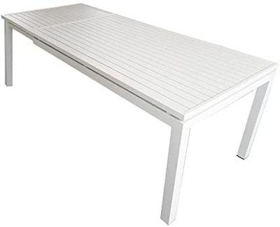 Tavolo allungabile estensibile per giardino in alluminio 160-220x90x76h rettangolare arredo esterno