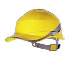 Casco antinfortunistico da lavoro cantiere Delta Plus giallo elmetto sicurezza