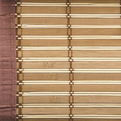 VERDELOOK Egitto Tapparella in bambù con Bordo in Cotone 120 X 250 cm Marrone CILIEGIO