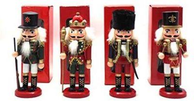 Soldatino natalizio schiaccianoci in legno 20 cm decorazioni natalizie