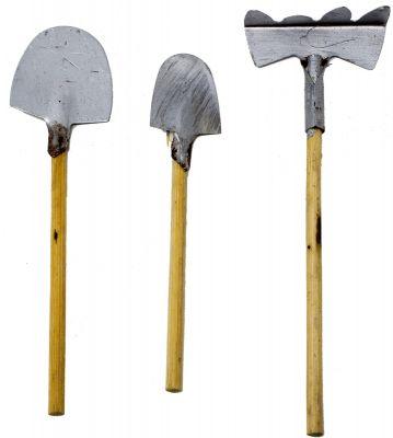 set 3 attrezzi da lavoro piccoli accessori per presepe