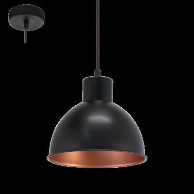 EGLO LAMPADA A SOSPENSIONE IN ACCIAIO NERO E BRONZO 21X110 cm