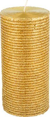 candela oro brillantata 7cm x 15 cm