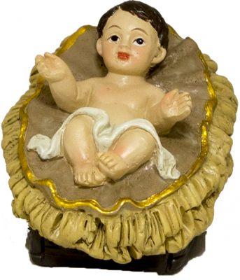 Gesu' bambino con culla 5 cm