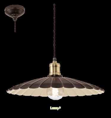 EGLO LAMPADA A SOSPENSIONE IN ACCIAIO DORATO 40,5X110 cm