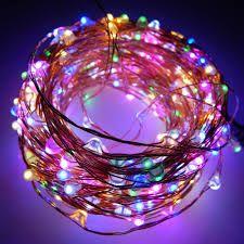 50 micro led multicolor a batteria controlloer con 8 giochi di luci 5m
