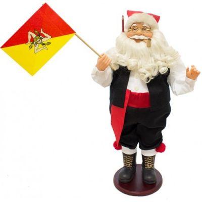 Babbo Natale con Musica e Movimento 45 cm Siciliano