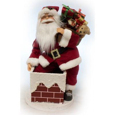 Babbo Natale con Musica e Movimento 45 cm Sul Camino