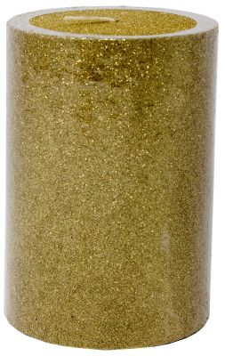 candela o moccola  colore oro glitterata 10 cm