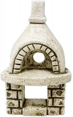 forno in gesso 17 cm con foro per lampada fuoco