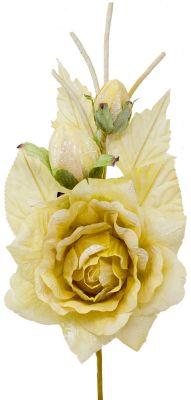 rosa gialla oro artificiale varie sfumature di colore 25cm