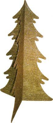 Oro albero di Natale 120 cm colore oro glitterato pieghevole
