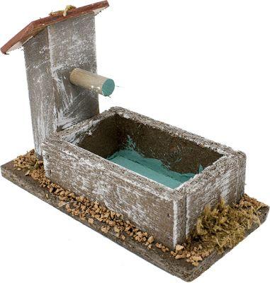 scena per presepe accessori fontana 105 cm