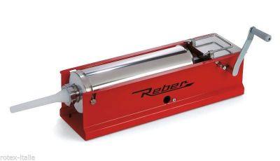Insaccatrice per salsiccia insaccati Reber 5 kg professionale in acciaio inox