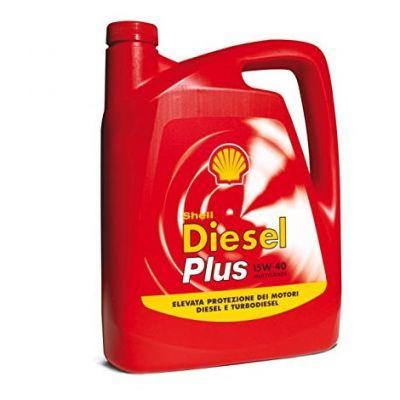 Olio Shell Diesel Plus - Lubrificante minerale multigrado 15W40