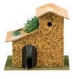 casa sughero per presepe accessori 9x13 cm