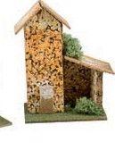 casa casetta in sughero roccia per preseppe accessori