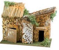 casa roccia accessori oggetti per presepe 19 cm