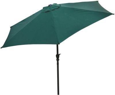 Ombrellone per esterno ∅270 in poliestere con manovella direzionabile arredo giardino verde