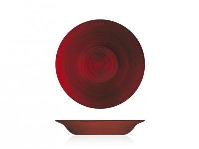 Piatto fondo Hoche in vetro ø 22,5 cm rosso