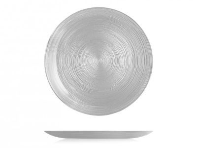Piatto piano Hoche in vetro ø 27 cm argento