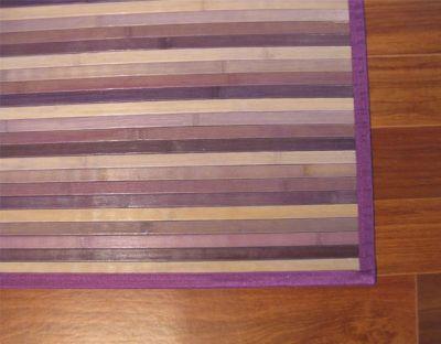 Tappeto cucina bamboo 175x75cm antiscivolo tappetti colorati viola finto legno