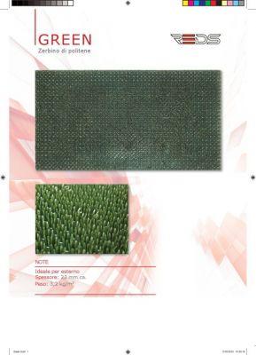 ZERBINO GREEN 40X70 cm