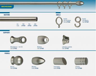 Pomolo cilindro nichel in alluminio zama Ø 13 mm