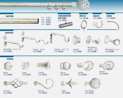 Congiunzione per tubo in ferro avorio/oro nuvole Ø 20 mm