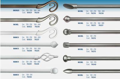 Kit estensibile ferro bianco 120/210 cm