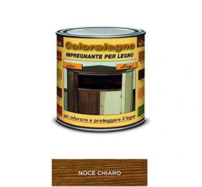 Coloralegno impregnante per legno colora e proteggi Noce chiaro 250ml Veleca