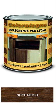 Coloralegno impregnante per legno colora e proteggi Noce medio 250ml Veleca