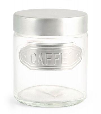 Home Barattolo Caffè Alluminio Trasparente/Grigio 11x11x13 cm