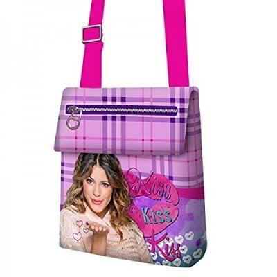 Borsetta bustina con clip e 2 cerniere Violetta Disney