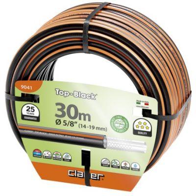 """Claber tubo di gomma da giardino per irrigazione retinato e rinforzato Top-Black 5/8"""" (14-19) 30 mt"""