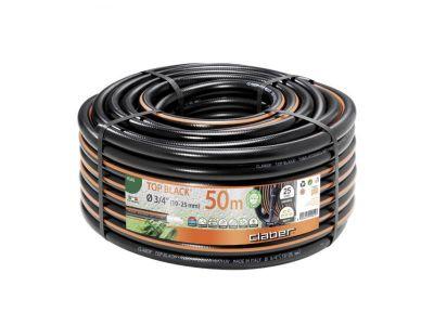 """Claber tubo per irrogazione giardino antitorsione resistente Top-Brlack 3/4"""" (19-25mm) 50M"""