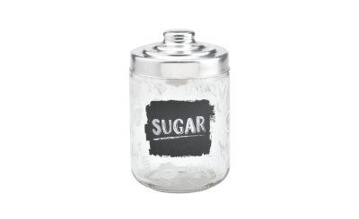 Barattolo contenitore cucina vetro Zucchero decoro lavagna 800ml